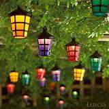 40LED Farbige Laterne Garten Licht Lampe Festive Outdoor Terrasse Party Lichterkette blau gelb grün pink-Netz