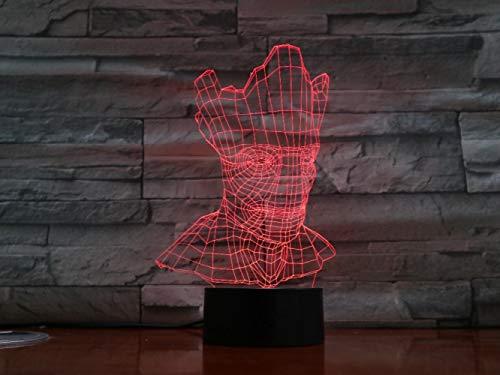 ZNNYE 3D Nachtlicht Kindergroot Halloween Lampe Optische Täuschung 7 Bunte Tischlampe Led Nachtlicht Gravierte Acryl Nachtlicht Crafts Kids Gx1394