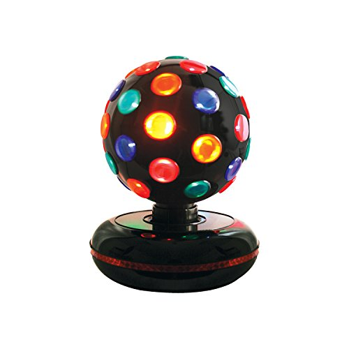 Rotating 6-inch Disco Ball Light, Multi-Coloured.