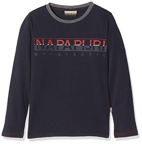 Napapijri Jungen T-Shirt K Sabin, Blau (Blu Marine 176), 128 (Herstellergröße: 08) (Langarm-t-shirt 08)