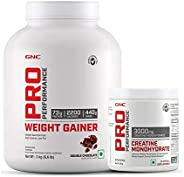 GNC Pro Performance Weight Gainer - 6.6 lbs, 3 kg (Double Chocolate) & Get GNC Creatine 250g