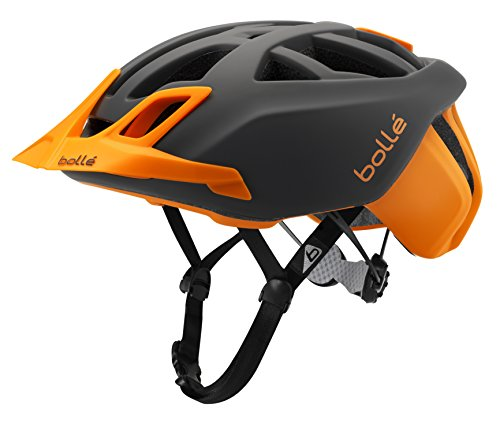 Bollé The One MTB Cascos Ciclismo, Unisex Adulto, Grey/Flash Orange, 58-62 Cm