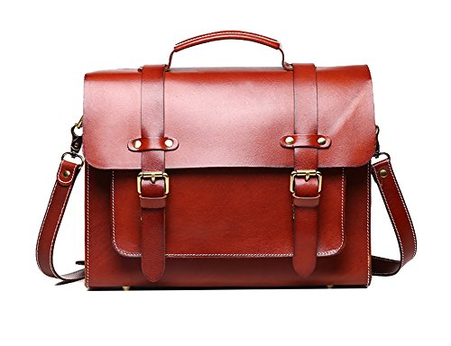 Genda 2Archer in Pelle Classica Studenti Universitari Borsa Messenger Bag (32,5 cm* 9cm * 25cm) Marrone