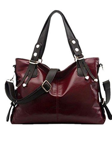 CHAOYANG-cera di petrolio spalla della signora borsa a tracolla portatile borse diagonali , wine red wine red