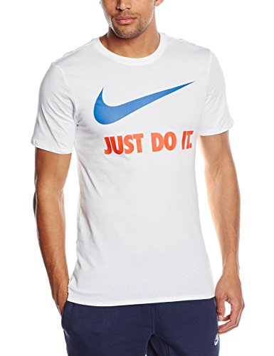 Camicia a maniche corte NIKE Just Do It Swoosh  - Bianco (Bianco - bianco) - 2XL