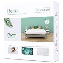 Recci Cubre Colchón 150x190/200 - Cubrecolchón Impermeable 150x190/200, 100% Bambú