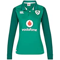 Canterbury Ireland Official 17/18 Women's Rugby Long Sleeve Home Classic Jersey