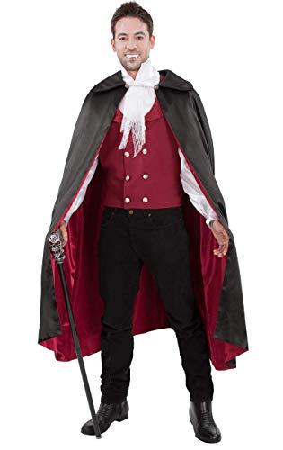 Roter Vampir Halloween Kostüm für Erwachsene Extra Large