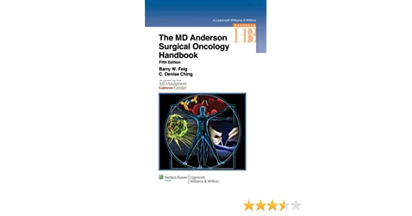 Buy The M D  Anderson Surgical Oncology Handbook (Lippincott