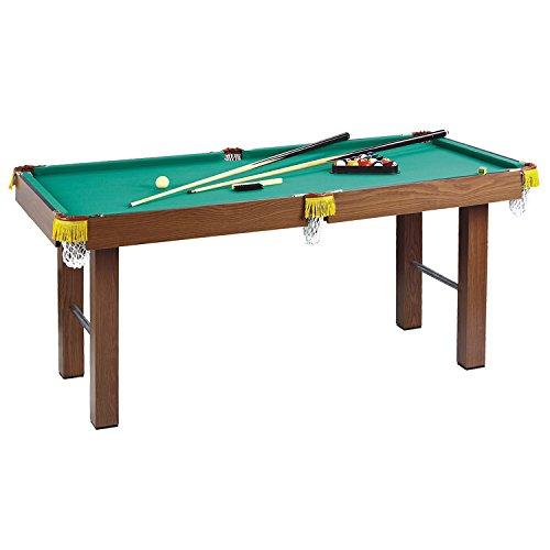 Homcom® Mini Billardtisch Pool Billard Tisch für Kinder inkl. Zubehör, MDF, 123,5x66,5x66cm