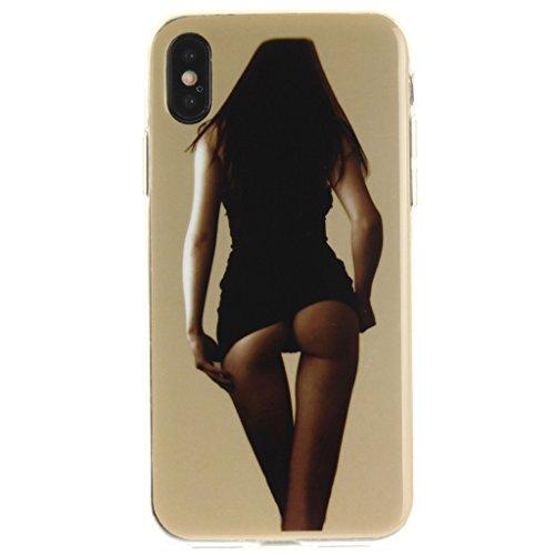 "Hülle für Apple iPhone X , IJIA Verrückt (DON'T TOUCH MY PHONE) TPU Weich Silikon Stoßkasten Cover Handyhülle Schutzhülle Bumper Handytasche Schale Case Tasche für Apple iPhone X (5.8"") V22"