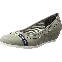 Tom Tailor Damen 2793602 Wedges, Grau (Grey), 40 EU