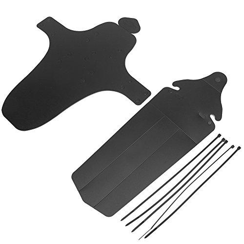 Fahrrad Schutzblech Mountainbike BMX Kotflügel Kunststoff Reifen vorne&hinten Schutzblech Set ( Abmessung : Without Logo ) (Hinten Mountain Bike Kotflügel)