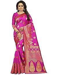 Atreyee women's ethnic wear kanjivaram silk saree. (chakra)