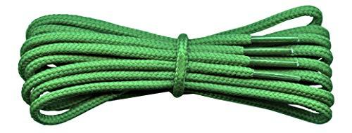Fabmania Lacci Verdi per stivali- 4 mm rotondo- ideale per scarpe da trekking e trekking - Dr Martens - Lunghezze da 90 a 240 cm - fatto in Inghilterra