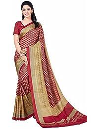 Miraan Printed Art Silk Women's Saree With Blouse Piece(5913)