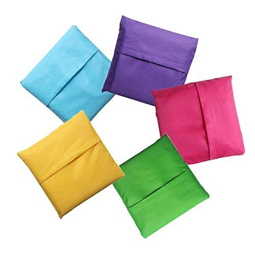 In hnym-belle sacchetto cestino pieghevole per la spesa–Shopping riutilizzabile incluso di 5
