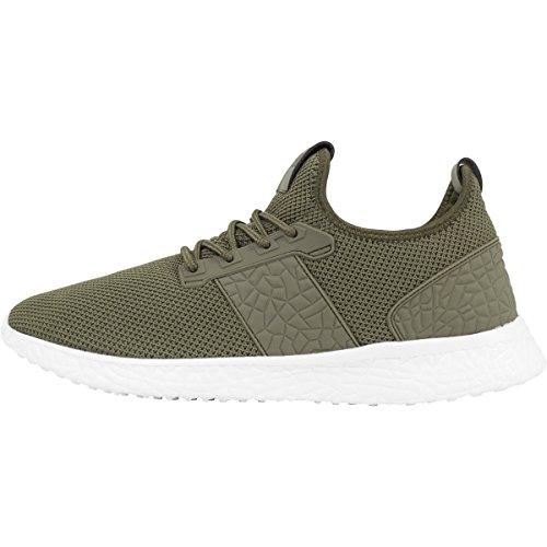 Urban Classics Shoes Advanced Light Runner Olive/Blanc