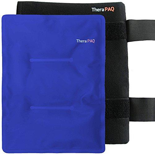 TheraPAQ Großerwiederverwendbarer Gel-Pack Hülle | Wärme & Kältetherapie für Hüfte, Schulter, Rücken, Knie | Kalt / Warm Kompresse | Schmerzlinderung bei Verletzungen, Genesung, Schwellung, Schmerzen, Prellungen | XL 36 x 28cm (Therapie-geschenk-pack)