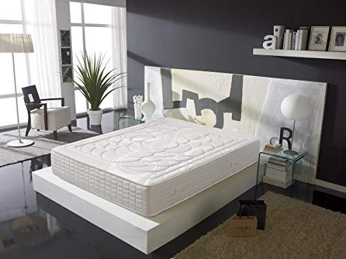 Colchón de Muelles Ensacados con viscoelástica 180X200 - Efecto Relax 7 Zonas de Confort - Altura...