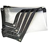 YYQIANG PE Impermeable Cloth, Transparente PVC Grueso Rain Tela, al Aire Libre Ventana Lluvia de Aislamiento de la película (0,12 mm de Espesor) de 120 g / ㎡ (Size : 4×4m)