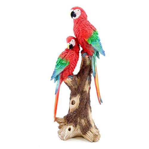 Deko Papagei Paar, Papagei Dekofigur, Gartenfigur, Papageifigur, Garten/Balkon Dekoration | Garten > Dekoration | art decor