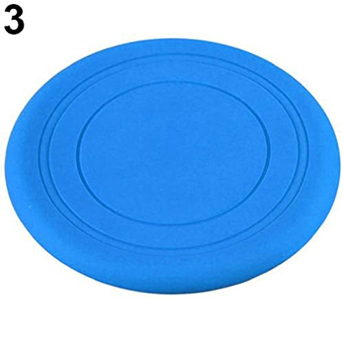 alkyoneus Hunde Frisbee Flying Disc Zahn beständig Outdoor Training Apportieren, - Weiches Hund Maul