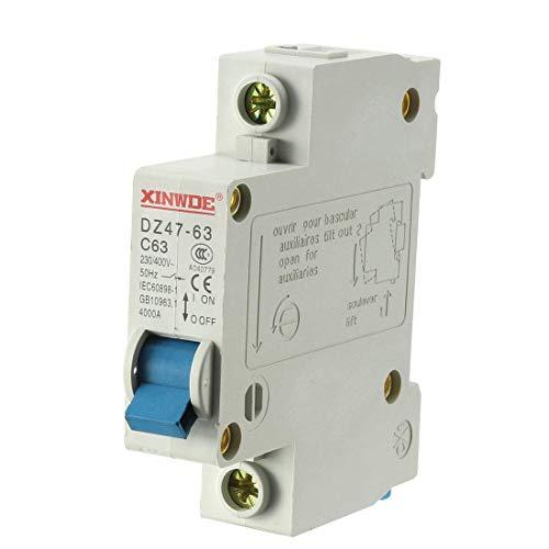 ZCHXD 1 Pole 63A 230/400V Low-voltage Miniature Circuit Breaker Din Rail Mount DZ47-63 C63 Din Mount Circuit Breaker