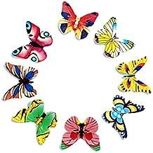 STOBOK Los Adornos de la Torta de la Mariposa de la Comida clasificaron los Ornamentos comestibles