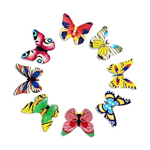 STOBOK Schmetterlinge Kuchenaufsätze Essbare Papier Kuchenaufsätze 120 Stücke