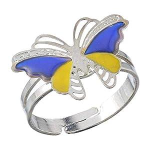 Inception Pro Infinite Magischer Ring Stimmung Ring Stimmung mit Schmetterlingssymbol Farbe ändern abhängig von Stimmung Geschenkidee Mädchen Kinder Einstellbar IT