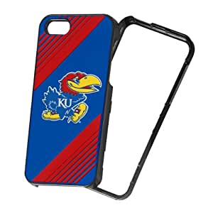 Forever Collectibles NCAA 2-Piece Snap-On iPhone 5/5S Polycarbonate Case - Retail Packaging - Kansas Jayhawks