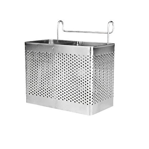 Cubertería soporte, bluesees palillos de acero inoxidable utensilios de cocina escurridor de la cesta con ganchos cuadrado de almacenamiento soporte para cuchara cuchillo tenedor Caso organizerzer