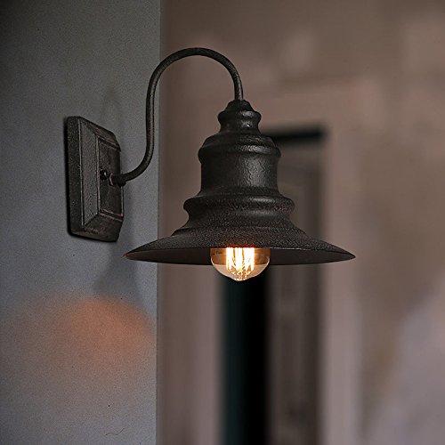 Antike 1 - Licht im Alter von Metall Kegel Schatten Schwanenhals Wandleuchte Wandleuchte Home Garten