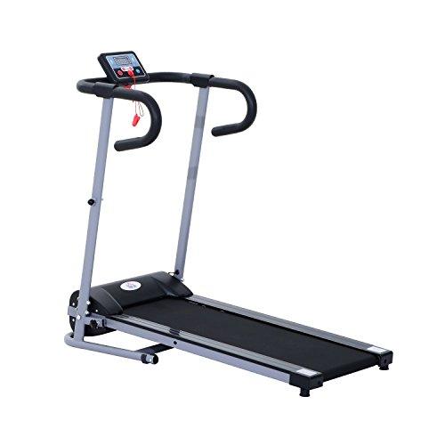 Homcom® 500W Elektrisches Laufband mit LED Display Fitnessgerät Heimtrainer klappbar