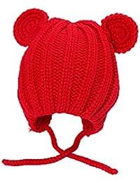 Boomly Unisexe Bébé Fille Bonnet à Tricoter Mignonne Chapeau de Laine  Chapeau d hiver Chaud 6d9efe390f2