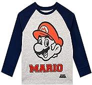 Super Mario Maglietta a Maniche Lunga per Ragazzi