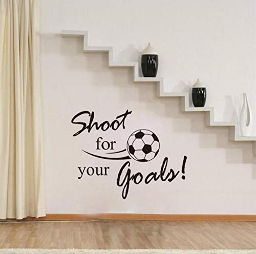 r Inspiration Quote Words Home Decor Wall Stickers/Boys Kids Room Football Decoration Sticker ()