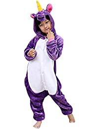 Dolamen Niños Unisexo Onesies Kigurumi Pijamas, Niña Traje Disfraz Animal Pyjamas, Ropa de Dormir