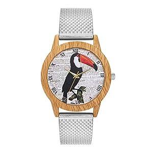 Damen Mode Uhren Beiläufig Silicagel Band Analoge Quarz Runde Armbanduhr Uhr für Freundin Groveerble
