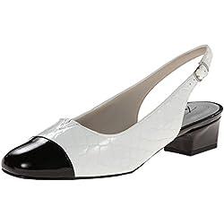 Trotters Dea Damen US 6 Weiß Breit Pumps Schuhe