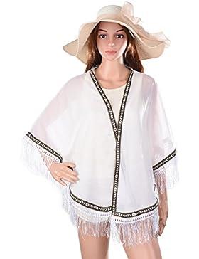 Vbiger Verano Blusón Chal Bufanda Blusas y Camisas para Mujer Pañuelos de playa