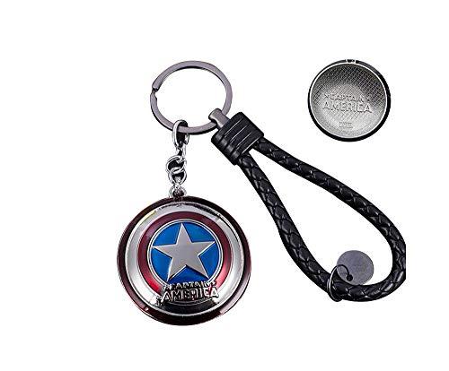 Sun Light Captain America Keychain Anhänger Männer und Frauen Auto Schlüsselanhänger Metall Schild Schlüsselanhänger Avengers Marvel Kreative (9)