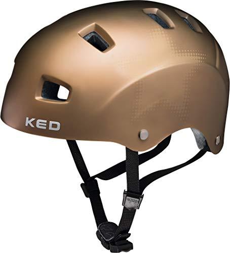 KED Risco Helmet Gold matt Star Kopfumfang M | 54-58cm 2019 Fahrradhelm