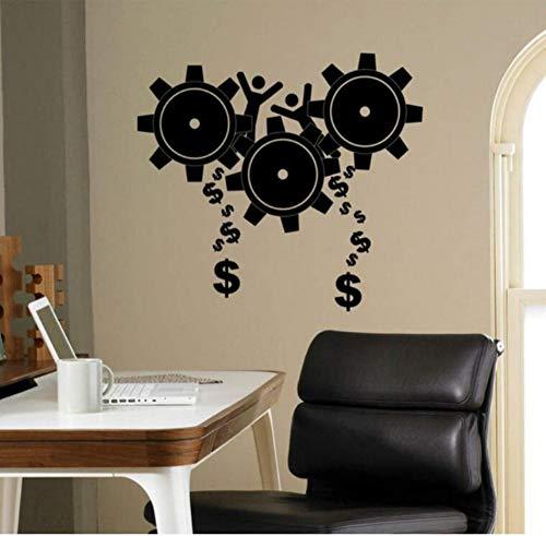 Vinilo Decorativo De Pared Extraíble 45X42Cm Engranajes Etiqueta De La Pared Del Negocio Steampunk Cogwheel Vinyl Sticker Wall Office School Teamwork