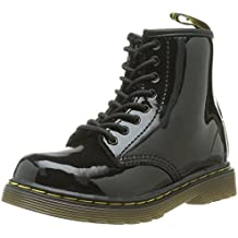 Dr Martens Brooklee Noir Patent ToddlerZip Chaussures Bottes