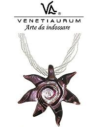 Venetiaurum - Collana in vetro di Murano e Argento 925 Made in Italy