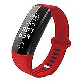 xinxinyu - Reloj de Pulsera Deportivo, Bluetooth, podómetro, Seguimiento de la frecuencia cardíaca, podómetro, Consumo de calorías, Reloj de Pulsera de Actividad, Color Rojo