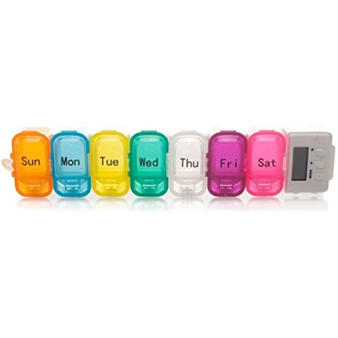 Safe & Sound 7 Day Detachable Pill Box & Digital Reminder