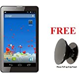 IKALL N1 7 Inch 3G Calling Tablet (512MB, 4GB) With Freebie Phone PoP-up Grip/Stand - Black
